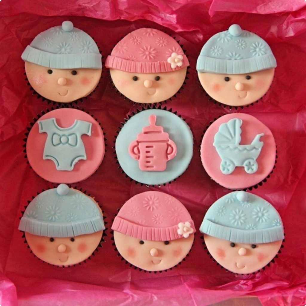 Baby Cupcakes - 42 Unique Baby Shower Cakes and Baby Shower Cupcakes Ideas - Baby Journey Blog