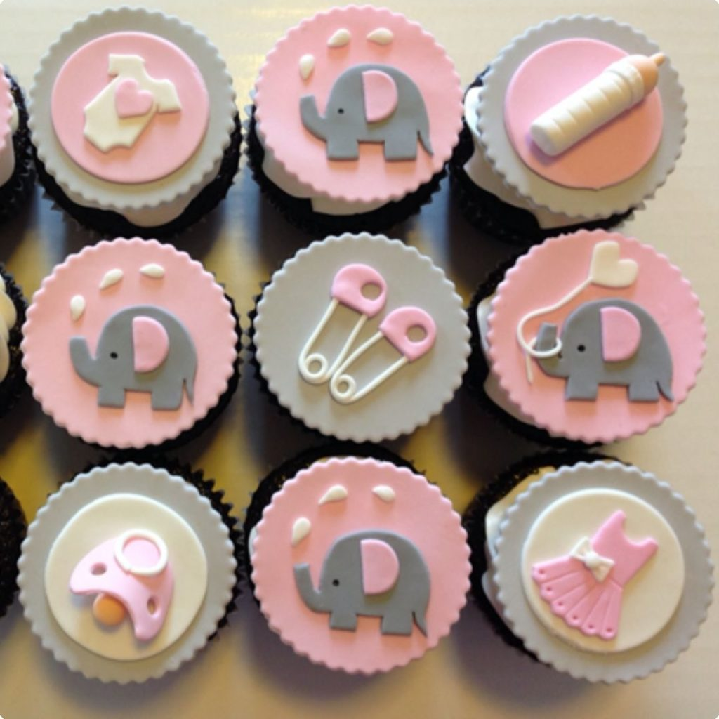 Baby-Themed Cupcakes - 42 Unique Baby Shower Cakes and Baby Shower Cupcakes Ideas - Baby Journey Blog