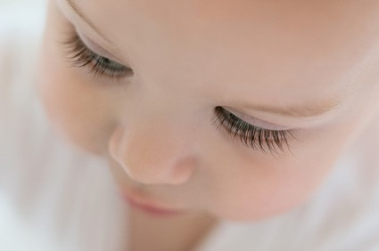 The bottom lashes usually grow less in amount compared to the top eyelashes. - When Do Babies' Eyelashes Grow? | Baby Journey Blog