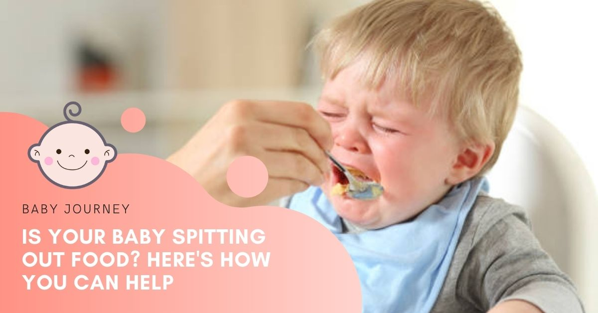 baby spitting oout food featured image - baby journey blog