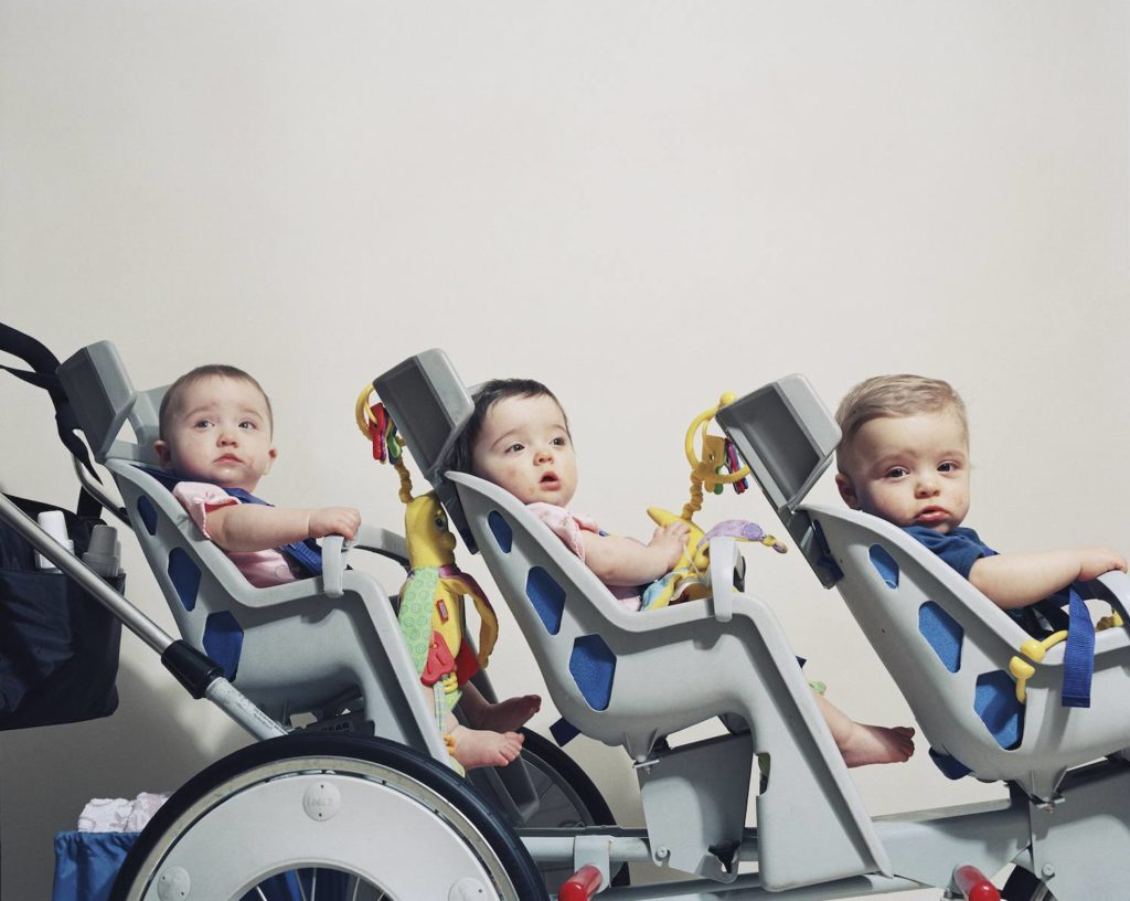 It's easier to bring your three babies out in a triple stroller. - Best triple Stroller | Baby Journey Blog