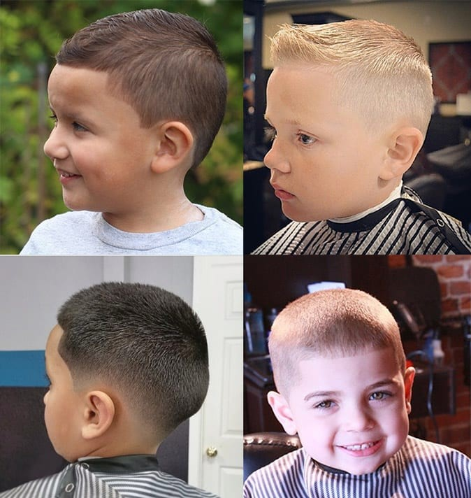 Buzz cut. - 10 All-Time Popular Toddler Boy Haircuts | Baby Journey