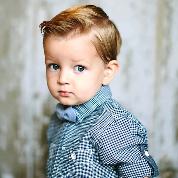 Classic quiff. -10 All-Time Popular Toddler Boy Haircuts | Baby Journey