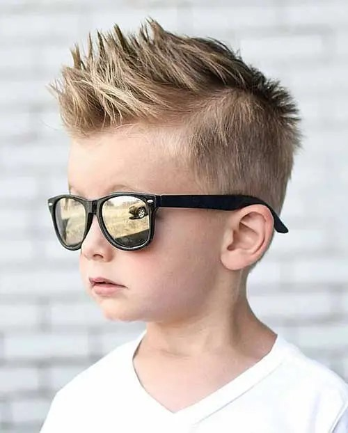 Spiky style. - 10 All-Time Popular Toddler Boy Haircuts | Baby Journey