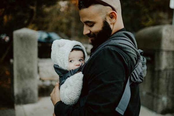 Babywearing helps in strengthening the bond between baby and parent - Baby Hates Tummy Time? Here Are 9 Best Alternatives to Tummy Time - Baby Journey blog