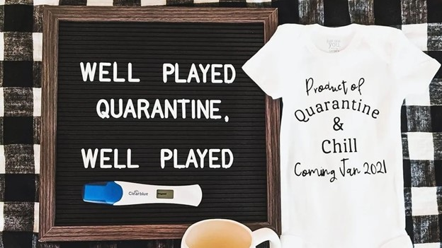 Blame the Quarantine - 112 Baby Announcement Ideas Perfect to Grace Your Instagram | Baby Journey Blog
