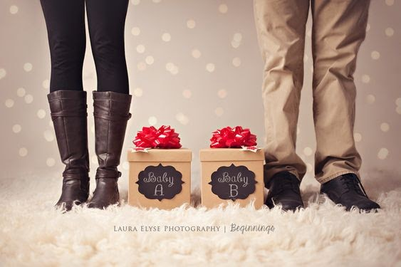 Double Gift Box - 112 Baby Announcement Ideas Perfect to Grace Your Instagram | Baby Journey Blog