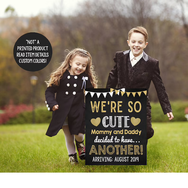 Dress the Older Siblings Up- 112 Baby Announcement Ideas Perfect to Grace Your Instagram | Baby Journey Blog