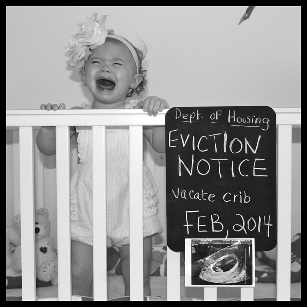 Eviction Notice- 112 Baby Announcement Ideas Perfect to Grace Your Instagram | Baby Journey Blog