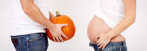 Halloween Themed Announcement - 112 Baby Announcement Ideas Perfect to Grace Your Instagram | Baby Journey Blog