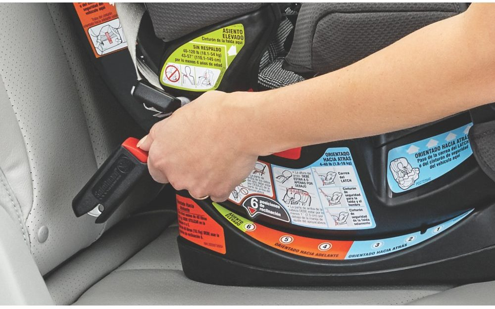 LATCH installation is easy for this car seat - Graco 4ever car seat review - Baby Journey blog
