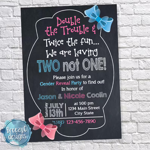 Simple Twin Pregnancy Reveal- 112 Baby Announcement Ideas Perfect to Grace Your Instagram | Baby Journey Blog