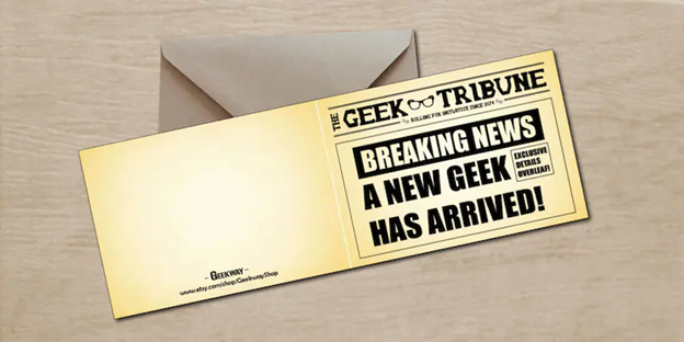The Front Page of a Geek Magazine - 112 Baby Announcement Ideas Perfect to Grace Your Instagram | Baby Journey Blog