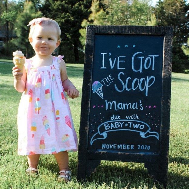 The Ice-Cream Treat- 112 Baby Announcement Ideas Perfect to Grace Your Instagram | Baby Journey Blog