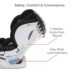 The several recline positions allow your baby to enjoy their trip comfortably - Britax Boulevard Clicktight Convertible Car Seat Review 2021 - Baby Journey blog
