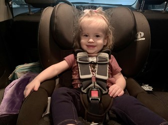 The two layers of side impact protection protect your child from injuries, in case of an accident - Britax Boulevard Clicktight Convertible Car Seat Review 2021 - Baby Journey blog