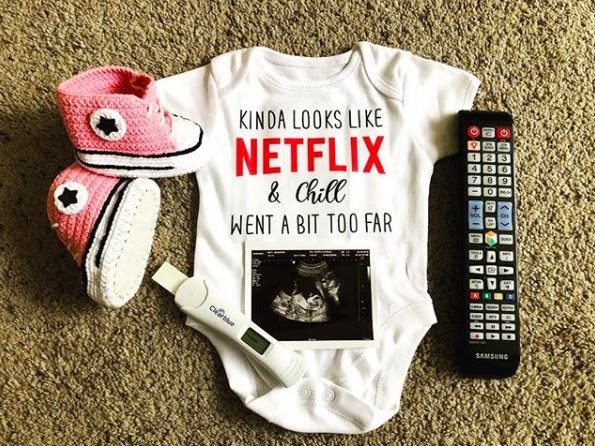 Too Much Netflix & Chill So… - 112 Baby Announcement Ideas Perfect to Grace Your Instagram | Baby Journey Blog