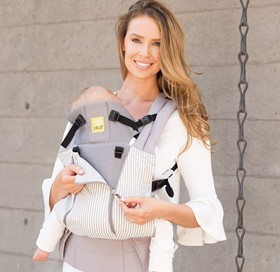 When not required, the mesh panel can be easily removed from the carrier - Lille Baby Carrier Review - Baby Journey blog