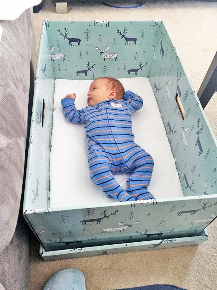 Baby Cardboard Box - 14 Best Crib Alternatives for Parents Who Want Other Baby Sleeping Options - Baby Journey blog