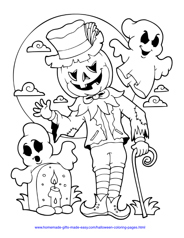 Halloween Coloring Pages | Halloween Gifts for Kids | Baby Journey