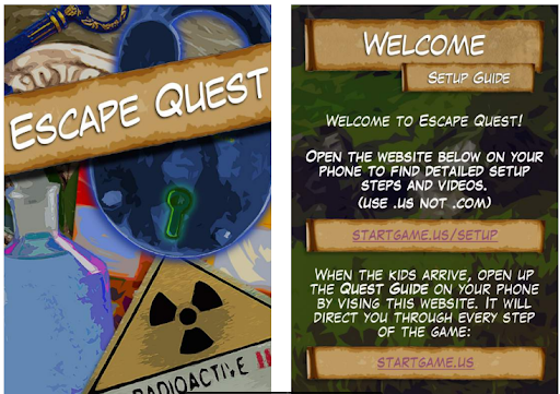 Simple and easy instructions available in the escape game kit - Kids Escape Quest Review - Baby Journey blog